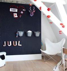 Slaapkamer on pinterest met striped walls and brocante - Board deco kamer ...