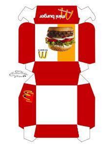 Cajas de McDonalds #printables para preparar juegos funcionales.