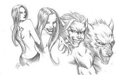 werewolf transformation drawings - Google Search