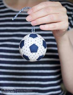 Как сшить футбольный мяч / Football Free Pattern - Вечерние посиделки