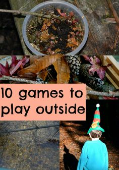 5 great activities to play outside even when it's cold. Includes potion making, den building, pooh sticks and lots more
