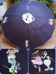 Paraguas con vaquitas