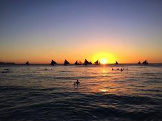 Sunsets in Boracay.. 🌅🍹✨