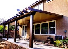 DIY Alumawood Patio Cover Kits shipped Nationwide to your front door! Get instant pricing and use our Patio Cover Designer! Do It Yourself Patio Covers. Patio Kits, Pergola Ideas For Patio, Deck With Pergola, Cheap Pergola, Backyard Pergola, Pergola Plans, Pergola Cover, Patio Roof, Pergola Kits