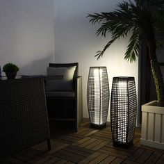 Grand Patio Super Bright Outdoor Floor Lamp Large-Sized, Solar Powered Lamp Light, Weather–Resistant Rattan Floor Lamp for Patio, Deck, Path and Garden Wicker Floor Lamp, Outdoor Floor Lamps, Large Floor Lamp, Outdoor Flooring, Outdoor Lighting, Rattan Lamp, Solar Lights, Hanging Lights, Grow Home