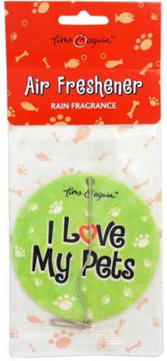wholesale Time & Again Air Freshener Rain Fragrance I Love My Pets (Case of 50)