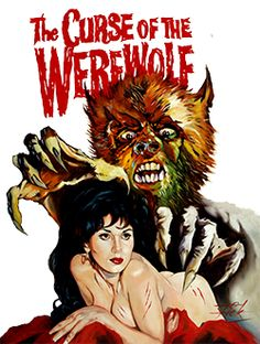 The Curse of the Werewolf - Oliver Reed stars in Hammer's only werewolf movie. Art by Rick Melton.