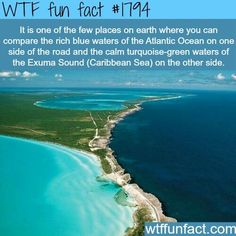 Just loving these photos of Eleuthera, an island in the Bahamas that's long, thin, and beautifully divides the Atlantic Ocean and the Caribbean Sea. Oh The Places You'll Go, Cool Places To Visit, Dream Vacations, Vacation Spots, Les Bahamas, Eleuthera Bahamas, Nassau, Wtf Fun Facts, Random Facts