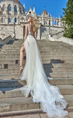 Flavia by Galia Lahav   Stunning wedding dress with long train