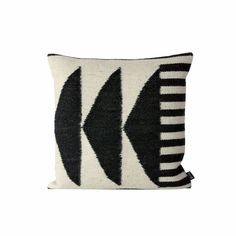 Designed in Denmark by contemporary Danish brand, Ferm Living, this kilim accent pillow is perfect for adding a bit of graphic pop to your sofa of bed.