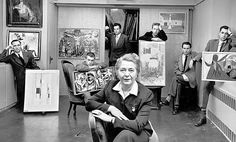 edith halpert with six of her downtown gallery artists, 1952