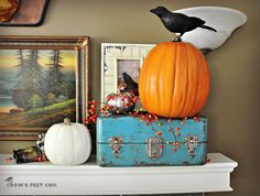 Crow's Feet Chic: Fall Mantle