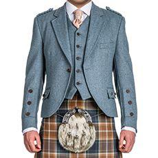 Lovat Blue Tweed Crail Jacket & Waistcoat