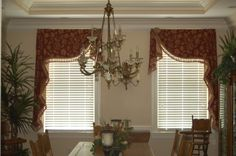 Mirrored Moreland Valances with extended jabots custom designed by Doshie
