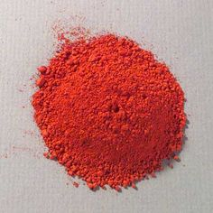 Iconofile: Cinnabar, Warm [10 g jar] (.35 oz.) Current Names: German: Zinnober; French: cinabre; Spanish: cinabrio; Italian: cinabro. Vermilion is the standard name in English given to the red artists' pigment based on artificially made mercuric sulfide, while cinnabar is the name given to the natural mineral. Obsolete Names: English: Chinese red