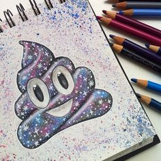 "Gefällt 8,275 Mal, 402 Kommentare - Penny (@idrawstufff) auf Instagram: ""Galaxy Inspired by @floating_colour I draw too many emojis omg Comment your 3 most recent…"""