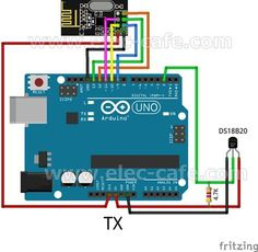 nRF24L01+ Wireless Temperature Monitoring DS18B20 Arduino UNO | Elec-Cafe.Com