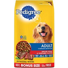 PEDIGREE Adult Complete Nutrition Roasted Chicken, Rice & Vegetable Flavor Dry Dog Food is formulated to give dogs all of the energy and nourishment they need to continue living life to the fullest. This chicken-flavor Roast Chicken And Rice, Chicken Rice, Roasted Chicken, Complete Nutrition, Proper Nutrition, Food Nutrition, Best Dog Food, Dry Dog Food, Cat Food