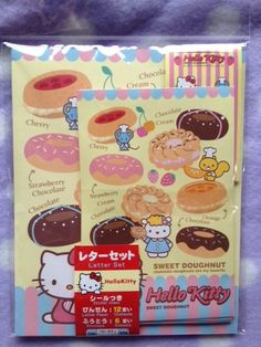 Hello Kitty donut letter set, $3