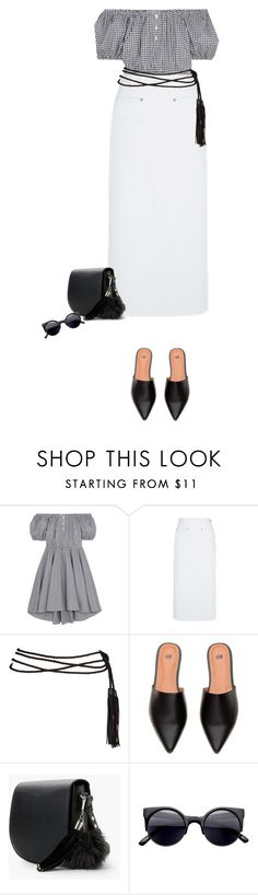 """""""Casual Saturday"""" by marion-fashionista-diva-miller ❤ liked on Polyvore featuring Caroline Constas, MANGO, skirt, saturday, casualstyle and offtheshoulder"""
