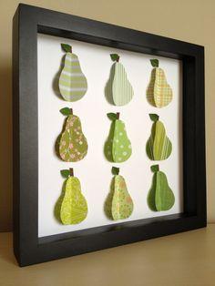 Green Pear, 3D paper art #springforpears #usapears