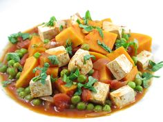 Patates douces aux légumes et tofu 14 minutes de préparation