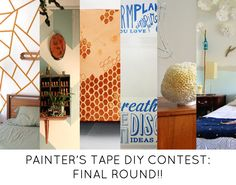 Final round of voting today for the @Design*Sponge Painter's Tape DIY Contest! #ScotchBlueRibbons