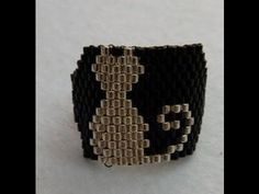 Rectangle Right Angle Weave Ring Part 2 of 2 Seed Bead Patterns, Jewelry Patterns, Beading Patterns, Tutorial Anillo, Bracelet Tutorial, Beaded Rings, Beaded Jewelry, Beaded Bracelets, Beading Tutorials