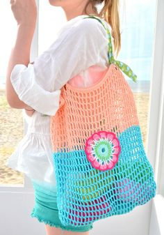 byClaire workshop - at the BEACH ! - byClaire - crochet patterns, crochet books, crochet yarn byClaire workshop - at the BEACH ! Free Crochet Bag, Crochet Market Bag, Diy Crochet And Knitting, Crochet Tote, Crochet Books, Crochet Handbags, Crochet Purses, Love Crochet, Filet Crochet