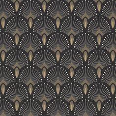 Wallpaper non-woven roll 1925 anthracite gold effect PaperMint Arte Art Deco, Motif Art Deco, Art Deco Design, Art Deco Stil, Art Deco Home, Art Deco Wallpaper, Home Wallpaper, Papier Peint Art Nouveau, Small Toilet Room