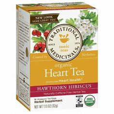 Traditional Medicinals Heart Tea with Hawthorn Hibiscus 16 ea 1 Pack -- Details can be found by clicking on the image. (This is an affiliate link and I receive a commission for the sales)