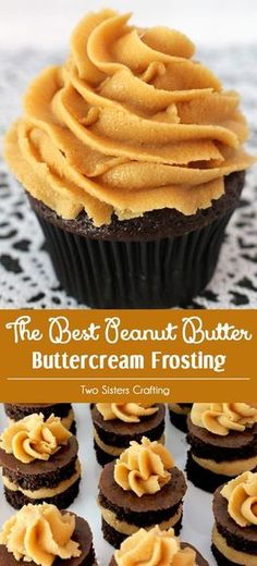 Our Best Peanut Butter Buttercream Frosting is the perfect frosting recipe for your chocolate cake, cupcakes or brownies. It is super delicious and so easy to make. Sweet, creamy, peanuty and so very (Baking Desserts Brownies) Cupcake Recipes, Baking Recipes, Cupcake Cakes, Dessert Recipes, Gourmet Recipes, Gourmet Cupcakes, Recipes For Sweets, Sweets Recipe, Muffin Cupcake