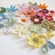 crochet for Grandmas... cute embellishments for a hair bow or solid shirt... what do you think? @Nancy Lamar
