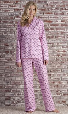 Flannel PJ Set (Pink Print) | Tall Women's Clothes, Ladies Clothing & Apparel by Long Elegant Legs