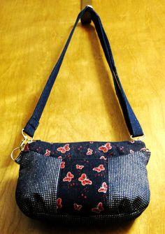 Denim butterfly shoulder bag Beaded Bags, Scarf Wrap, Purses And Bags, Diaper Bag, Gym Bag, Scarves, Wraps, Butterfly, Shoulder Bag