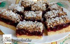 Kelt meggyes pite recept fotóval Yummy Cookies, Yummy Treats, Sweet Treats, Bar Cookies, Cookie Bars, No Cook Desserts, Delicious Desserts, Yummy Food, Croatian Recipes