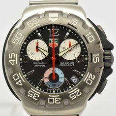 21912c4a98d Auth TAG HEUER Formula1 CAC1110 Chronograph Stainless Steel Mens Watch   4457