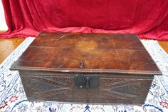 Charles II Oak Bible Box  Circa 1675 - Beautifully carved, late 17th Century English Bible Box.  Gorgeous patina! In great shape considering its age.