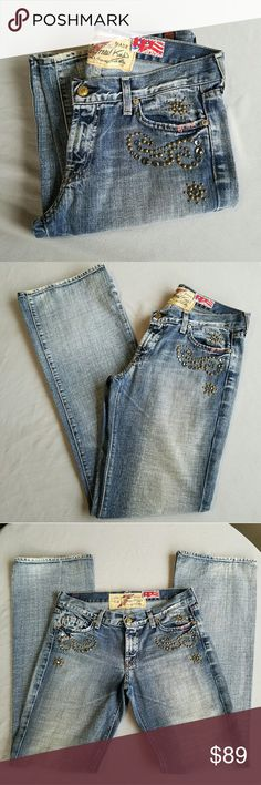 """RARE 7 for All Mankind Embelished Jeans """"The Great Wall"""" beautiful! Outer-seam 44 in Inseam 35.5 in  Waist 17 in Excellent condition  Feel free to ask me any additional questions. Price is firm. No trades, or modeling. Happy Poshing! 7 For All Mankind Jeans"""