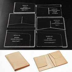Wutaleather Passport Template Clear Acrylic Leather Pattern Craft Tools 834