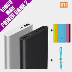 Original Xiaomi Mi Power Bank2 10000mAh External Battery Portable Mobile Backup Bank MI Charger for MEIZU Pro iPhones 7plus,iPad