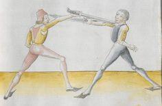 Lecküchner, Hans: Kunst des Messerfechtens Nordbayern, 1482 Cgm 582 Folio 93