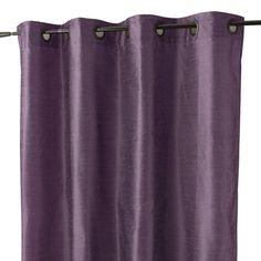 Rideau avec doublure Aspect soie, violet, 135 x 250 cm
