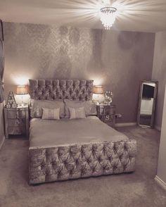 Crushed Velvet Silver Grey Future Home Decor Bedroom