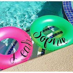 On the blog today! #summer #summerfun #swimming #swimmingpool #beach #pool #float #lettering #monogram #personalized #swim Easy Hobbies, Hobbies For Women, Great Hobbies, Hobby Lobby Sales, Circuit Crafts, Finding A Hobby, Silhouette Projects, Silhouette Cameo, Vinyl Monogram