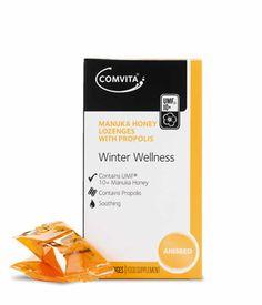 Comvita® Manuka Honey Lozenges with Propolis combine the soothing qualities of UMF® Manuka Honey with the power of Propolis. Manuka Honey, Health Care, Lemon, Wellness, Personal Care, Drinks, Food, Drinking, Self Care
