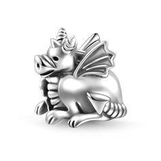 Cartoon Dragon Charm 925 Sterling Silver - SOUFEEL