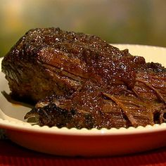 Red Wine Braised Brisket Mario Batali- this was delicious! I seared the meat and put it in the crock pot on low for 8 hours.