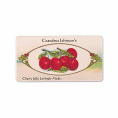 Custom Name Vintage Food Label $3.30 for a sheet of 18  customize to your needs