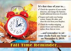 Reminder to turn back those clocks on Sunday! Clocks Back, Car Vacuum, Daylight Savings Time, Auto Service, Heating Systems, Cool Things To Buy, Navy Blue, Sunday, Fall